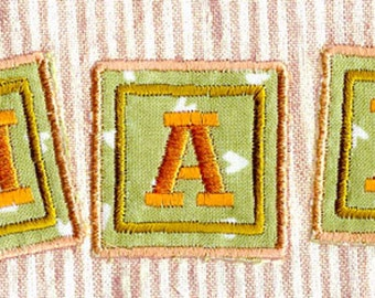 BABY BLOCK FONT. For the 4x4 hoop alphabet/letters Machine Embroidery Designs