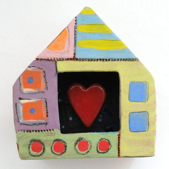 Home is where my heart is/ Ceramic wall sculpture