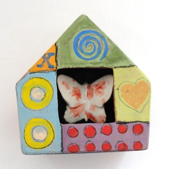 Butterfly House / Ceramic wall sculpture