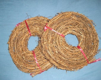 Grapevine Garland, 180 Feet of Natural Rustic Vine Garland, 12 Rolls of 15 Ft in each Roll, Primitive Country Decorating Vine