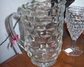 Vintage Crystal Pitcher Fostoria American Wedding Decor French Farmhouse French Country Pottery Barn Glass Pitcher