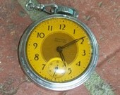 Vintage Pocket Watch Pocket Ben Westclock Collectible Rustic Industrial Supplies Altered Art Yule Time Ornament