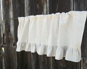 Ruffled Valance Linen Curtain Ruffled Burlap Curtain Window Treatment French Country Prairie Farmhouse Made to Order Custom Linen Drapes