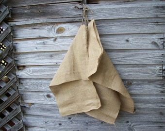 3 Vintage Burlap Bags SET Burlap Feed Sacks Rustic Fall Decor Primitive Prairie Style French Country Farmhouse Fall Wedding Decor 3 Bags
