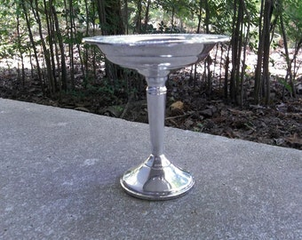 Antique Sterling Silver Compote Vintage Sterling Pedestal Dish Wedding Decorations Table Decor French Country Farmhouse Cottage Chic Prairie