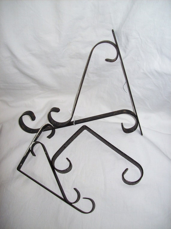 Vintage Wrought Iron Salvage Plant Hangers Brackets Hooks