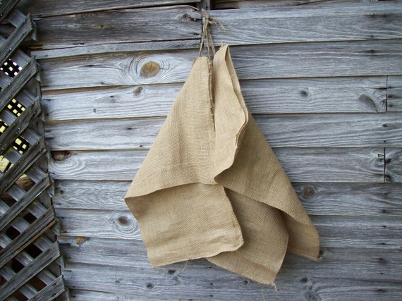 Set of 3 Vintage Burlap Bags Feed Sack Rustic Fall Decor Primitive Prairie Style French Country Farmhouse Fall Wedding Decor 3 Bags