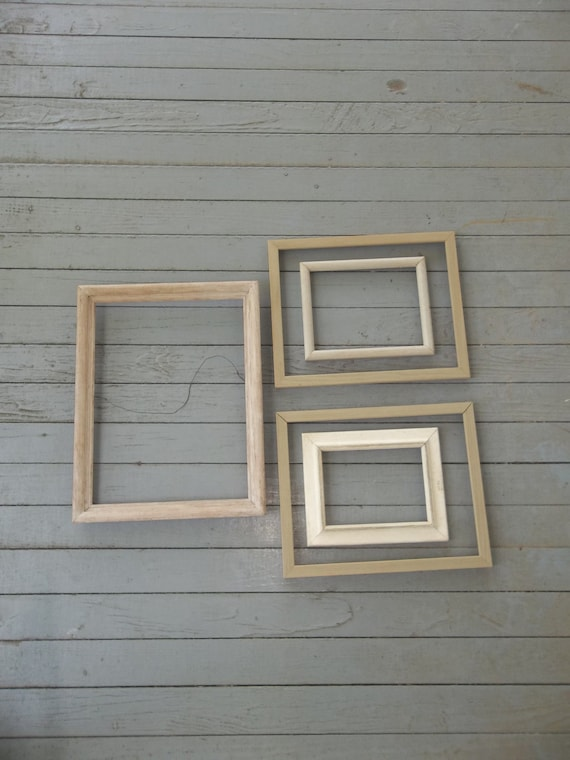 Vintage Frames White Picture Frames Wedding Decor French Country Farmhouse Frame Collection Cottage Chic Shabby Set of 5