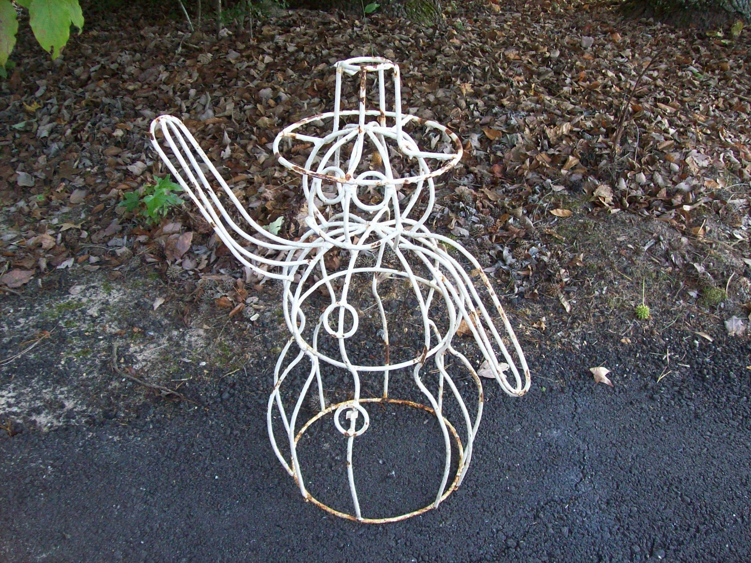 Wrought iron outdoor decor - Metal Rustic Garden Decor Photograph Wrought Iron Snowman Garden Idea