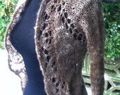 Gypsy Princess - handknit handspun lace coat lambswool mohair