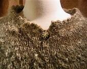 Grace handknit handspun poncho skirt