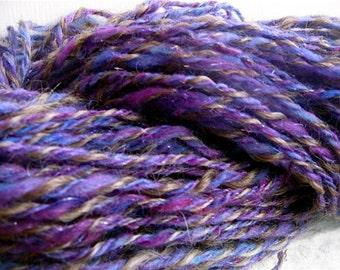 Purple Sparkles - handspun yarn