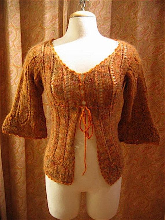 Josephine handknit handspun lace cardigan