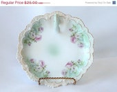 20% OFF Vintage Austrian Pink Rose Nappy Plate  Trinket Candy Dish