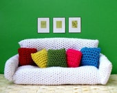 Sofa Bed with Cushions Amigurumi - CROCHET PDF PATTERN