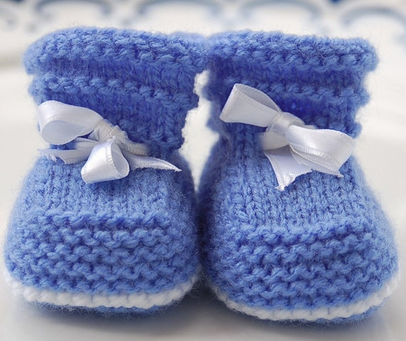 Easy Baby Booties Pdf Knitting Pattern 1 3 3 6 And 6 12