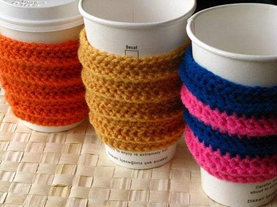 Ergonomic Coffee Sleeve CROCHET PDF PATTERN