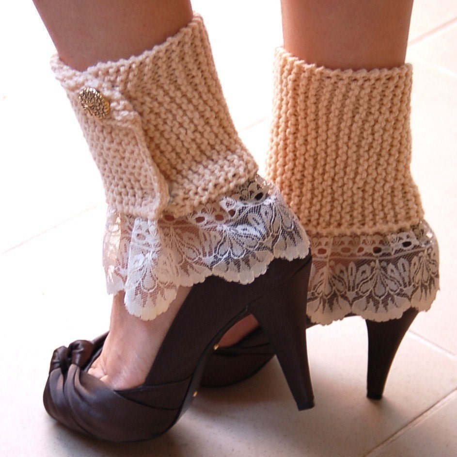Knitting Leg Warmers Pattern : Elegant Leg Warmers PDF Knitting Pattern by StudioKarmaPattern