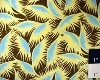 CLEARANCE Amy Butler Belle Eyelashes Blue Cotton Fabric 1 Yard