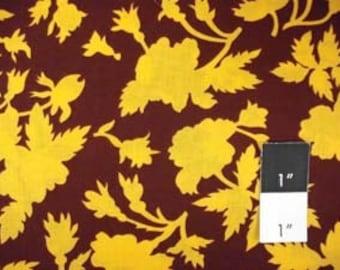 Kaffe Fassett GP77 Silhouette Rose Tortoise Shell Fabric 1 Yd