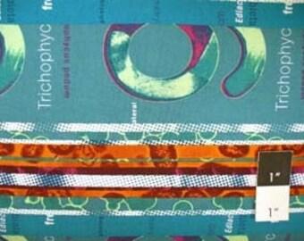 CLEARANCE Jay McCarroll JY20 Germania Rosse Buurt Stripe Green Cotton Fabric 1 Yd