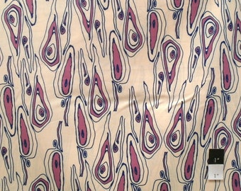 Tina Givens TG83 Opal Owl Grain Violet Cotton Fabric 1 Yard