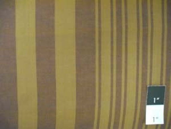 Kaffe Fassett Yarn Dyed Woven 2 Tone Stripe Gold Cotton Fabric 1 Yard