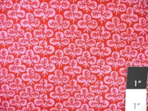 Kaffe Fassett GP73 Clover Red Cotton Fabric FAT QUARTER