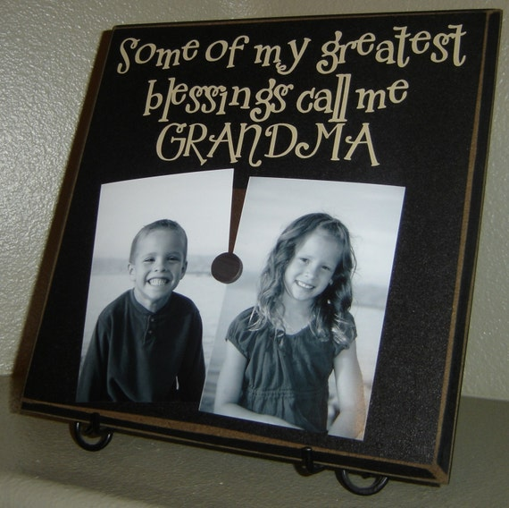 Some of my greatest blessings call me GRANDMA -Vinyl Lettering on a Square magnetic picture board