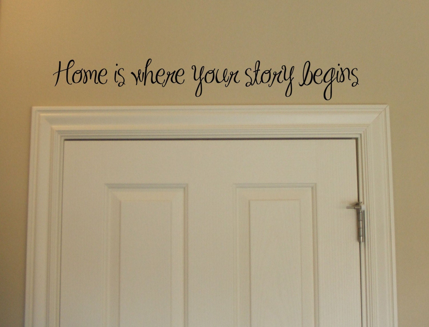 Home Is Where Your Story Begins Vinyl Wall Lettering