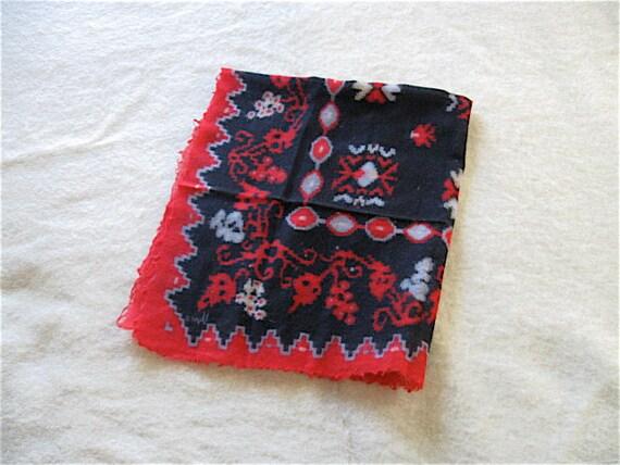 Vintage Vera Fine Wool Ikat Scarf.
