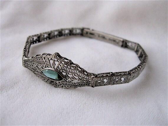 1920s Esemco Sterling Silver Filigree Bracelet