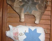 Old Quilt Pig, E-Pattern, PDF, Digital Downloadable Pattern