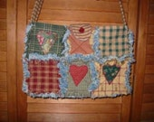 Rag Quilted, Star and Heart Purse, E Pattern, PDF, Downloadable Digital Pattern