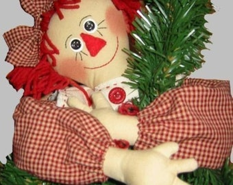 Tree Topper, Raggedy Ann, Epattern, PDF, Digital Downloadable Pattern