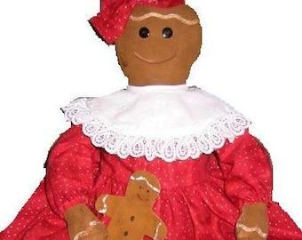 Gingerbread and Cookies Doll, Epattern, PDF, Downloadable Digital Pattern