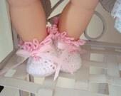 Custom Crochet Booties Preemie,Doll, Tiny Tears 2 inches