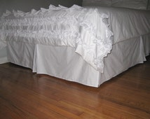 COTTON QUEEN Bedskirt with Kick Pleat on each side