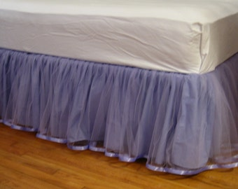 Queen Tulle bedskirt in Lavender or Purple