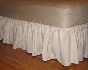 LINEN CRIB Ruffled Bed Skirt - Four Sided