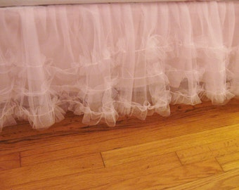 CRIB Size Ruffles Row Tulle Bedskirt - Choose Your Color