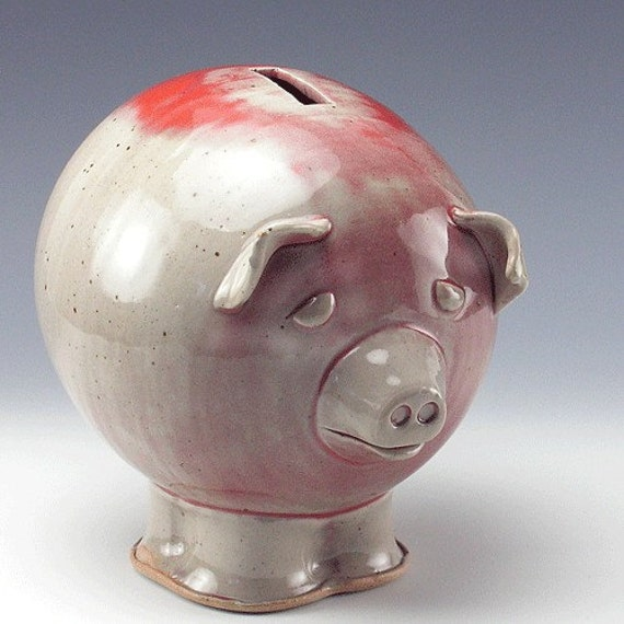 Pale Red Piggy Bank