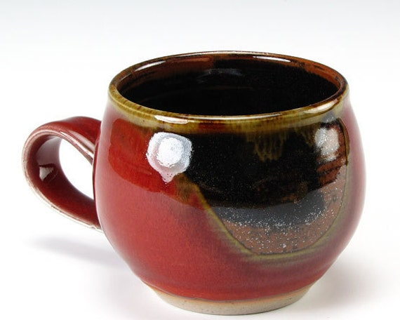 Small Red With Brown Spot Bubble Cup