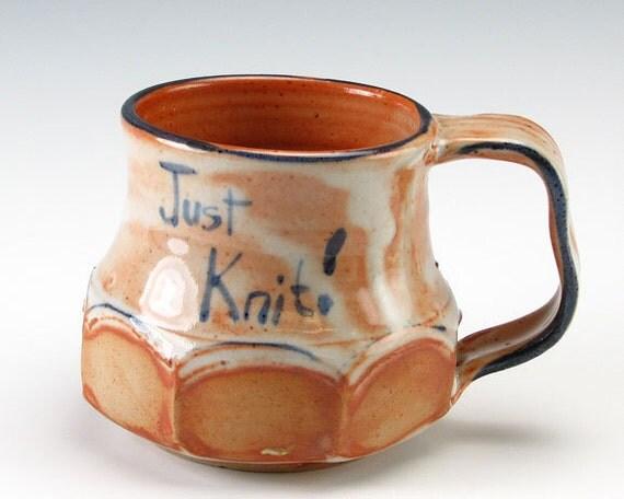 Faceted Mug for A Knitter
