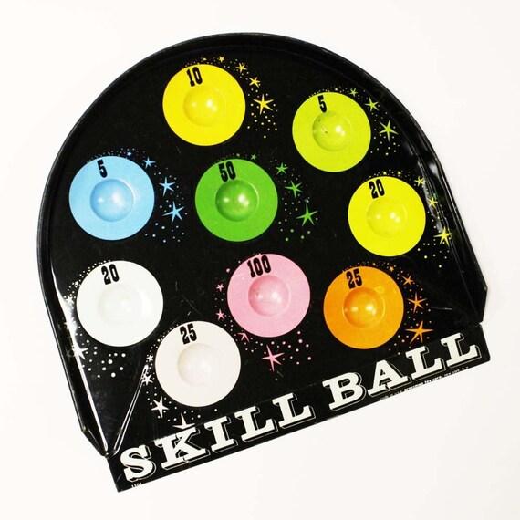 vintage skill ball game piece - tin - pressman toy corp