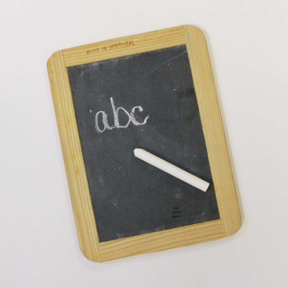 Vintage Chalkboard Slate School Chalk Tablet By Oldcottonwood