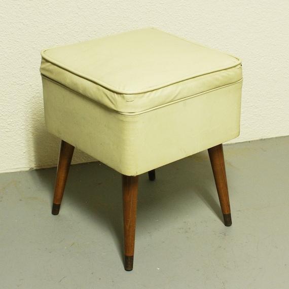 Vintage Sewing Seat Sewing Stool Sewing Storage By