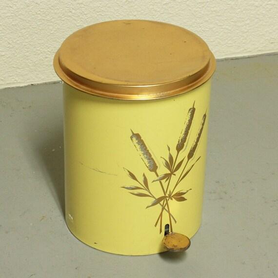 Vintage trash can waste basket metal copper by oldcottonwood - Copper wastebasket ...