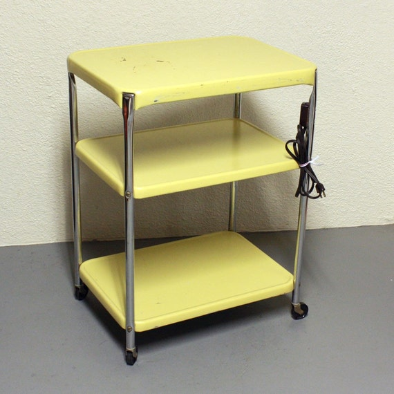 Elegant Metal Kitchen Cart On Wheels,