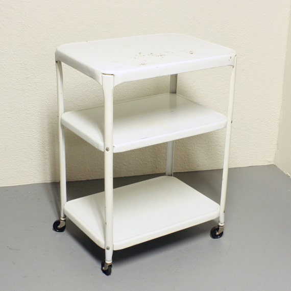 vintage metal cart serving cart kitchen cart by oldcottonwood, Kitchen design